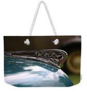 Art Deco Plymouth Hood Ornament Weekender Tote Bag