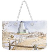 Plymouth Light In Winter Weekender Tote Bag