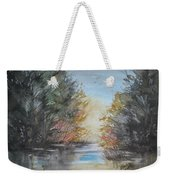 Pm River Sunset Weekender Tote Bag