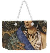 Pocahontas Wears A Turkey-feather Robe Weekender Tote Bag
