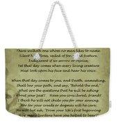 Poem The Question By Ella Wheeler Wilcox Weekender Tote Bag