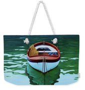 Coastal Wall Art, Poetic Light, Fishing Boat Paintings Weekender Tote Bag