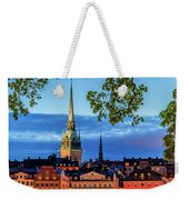 Poetic Stockholm Blue Hour Weekender Tote Bag