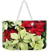 Poinsetta Mix Weekender Tote Bag