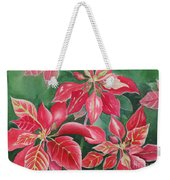Poinsettia Magic Weekender Tote Bag