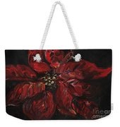 Poinsettia Weekender Tote Bag by Nadine Rippelmeyer