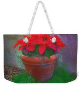 Poinsettia Pot Weekender Tote Bag