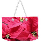 Poinsettias #1 Weekender Tote Bag
