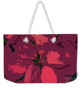 Poinsettias Work Number 4 Weekender Tote Bag