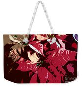 Poinsettia's Work Number 7 Weekender Tote Bag