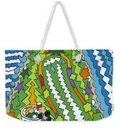 Point Arena Lighthouse Weekender Tote Bag by Rojax Art