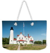 Point Iroquois Lighthouse Weekender Tote Bag