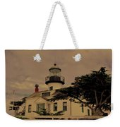 Point Pinos Lighthouse Antiqued Weekender Tote Bag