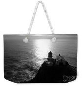 Point Reyes Lighthouse - Black And White Weekender Tote Bag