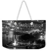Point State Park In Black And White Weekender Tote Bag