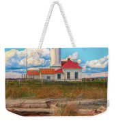 Point Wilson Lighthouse And Driftwood Weekender Tote Bag