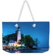 Pointe Aux Barques Lighthouse At Dawn Weekender Tote Bag
