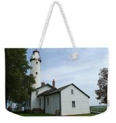 Pointe Aux Barques Lighthouse Weekender Tote Bag