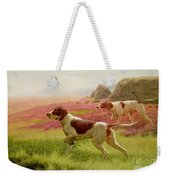 Pointers In A Landscape Weekender Tote Bag