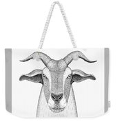 Farm Goat In Pointillism Weekender Tote Bag