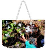 Pointing To Turtles Weekender Tote Bag