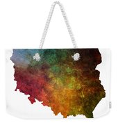 Poland Map Polska Map Weekender Tote Bag