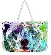 Polar Bear Colored Grunge Weekender Tote Bag