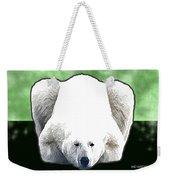 Polar Bear - Green Weekender Tote Bag