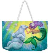 Polar Bear Kiss Weekender Tote Bag