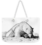 Polar Bear Protects Her Young Weekender Tote Bag