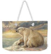 Polar Bear Rests On The Ice - Arctic Alaska Weekender Tote Bag