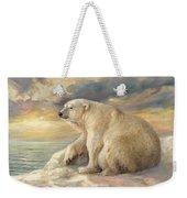 Polar Bear Rests On The Ice - Arctic Alaska Weekender Tote Bag