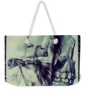 Polaroid Transfer Skull Anatomy Teeth Skeleton Beard Weekender Tote Bag