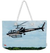 Police Helicopter Taking Off Weekender Tote Bag