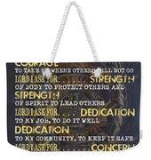 Police Officers Prayer Weekender Tote Bag