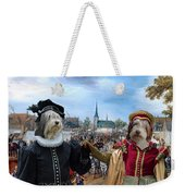 Polish Lowland Sheepdog Art Canvas Print - Prince And Princess Of Orange Weekender Tote Bag