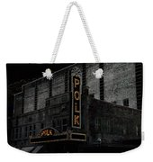 Polk Movie House Weekender Tote Bag by David Lee Thompson