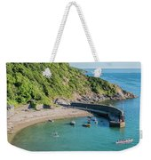 Polkerris Beach And Harbour Weekender Tote Bag