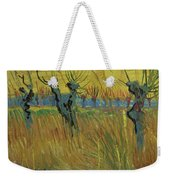 Pollarded Willows And Setting Sun Weekender Tote Bag