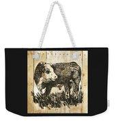 Polled Hereford Bull 11 Weekender Tote Bag