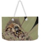 Pollinating Bee Weekender Tote Bag