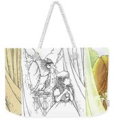 Polly And Tammy On The Balcony Weekender Tote Bag