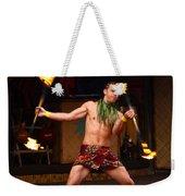 Polynesian Fire Dancing Weekender Tote Bag