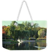 Pond At Mae Stecker Park In Shelby Township Mi  Weekender Tote Bag
