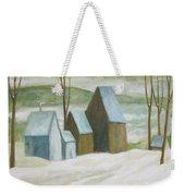 Pond Farm In Winter Weekender Tote Bag