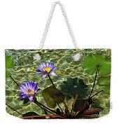 Pond Florals Weekender Tote Bag
