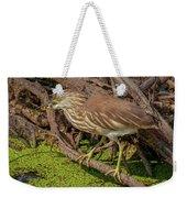 Pond Heron With Fish  Weekender Tote Bag