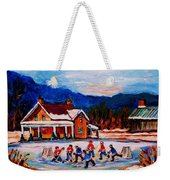 Pond Hockey Weekender Tote Bag