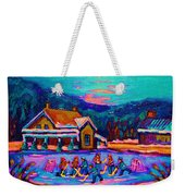 Pond Hockey Two Weekender Tote Bag