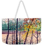 Pond In Fall Weekender Tote Bag